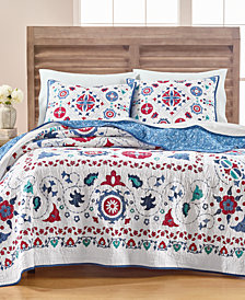 Martha Stewart Collection Vintage Folklore Quilt and Sham Collection, Created for Macy's
