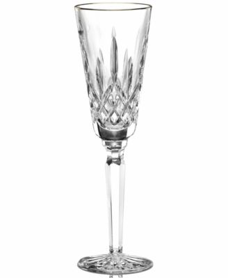 Waterford Stemware, Lismore Tall Gold Flute