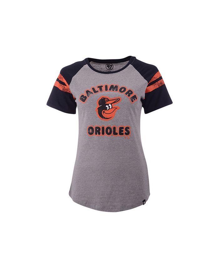 '47 Brand - Women's Baltimore Orioles Fly Out Raglan T-shirt