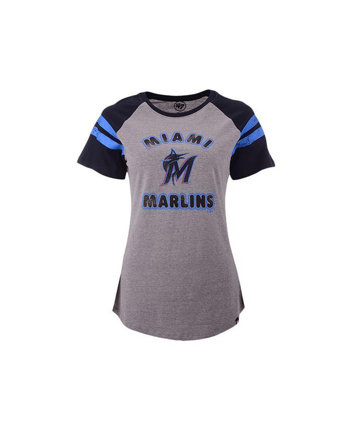 '47 Brand - Miami Marlins Women's Fly Out Raglan T-shirt