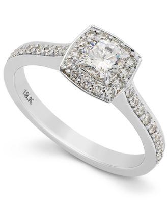 Halo Wedding Ring Sets 99 Ideal Diamond Ring k White