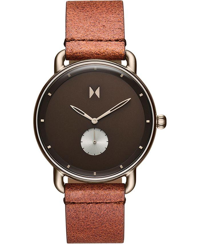 MVMT - Men's Nomad Land Brown Leather Strap Watch 41mm