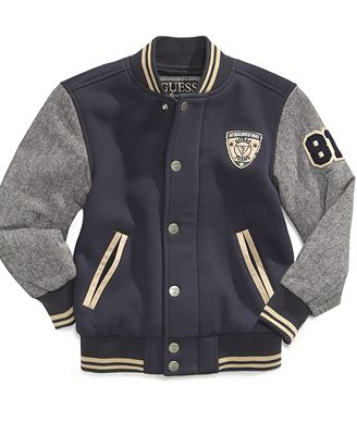 Kids Coats & Jackets for Boys & girls. When the temperature dips, kids can find protection from the weather, stay comfortable and look great with our collection of jackets and coats. For boys, you can also invest in any of the stylish assortment of denim or wool jackets and coats. Discover sporty varsity styles with raglan sleeves as well.