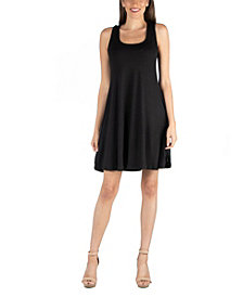 24seven Comfort Apparel A-Line Fit and Flare Mini Dress