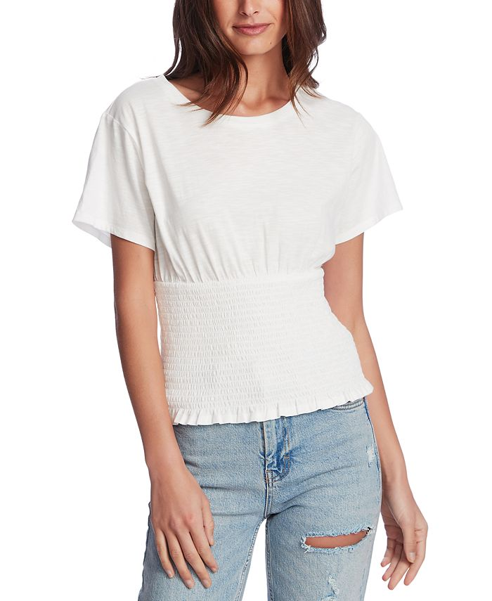 1.STATE - Smocked Waist Top
