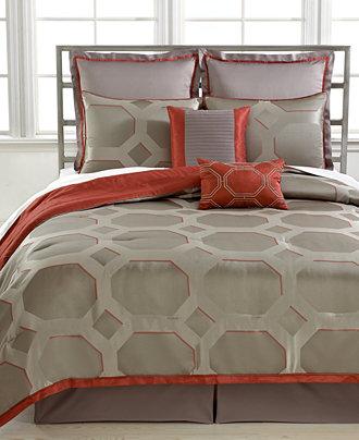 Closeout Alden 8 Piece Queen Reversible Comforter Set