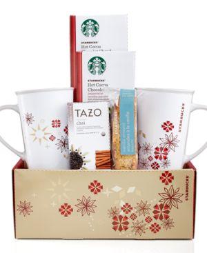Starbucks Gift Box, Set of 2 Cocoa and Tazo Tea