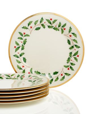 Lenox Holiday Set of 6 Dinner Plates