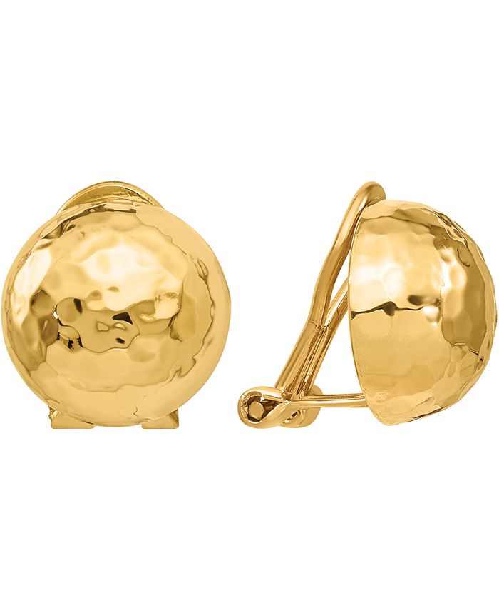 Macy's - Hammered Button Clip-On Earrings