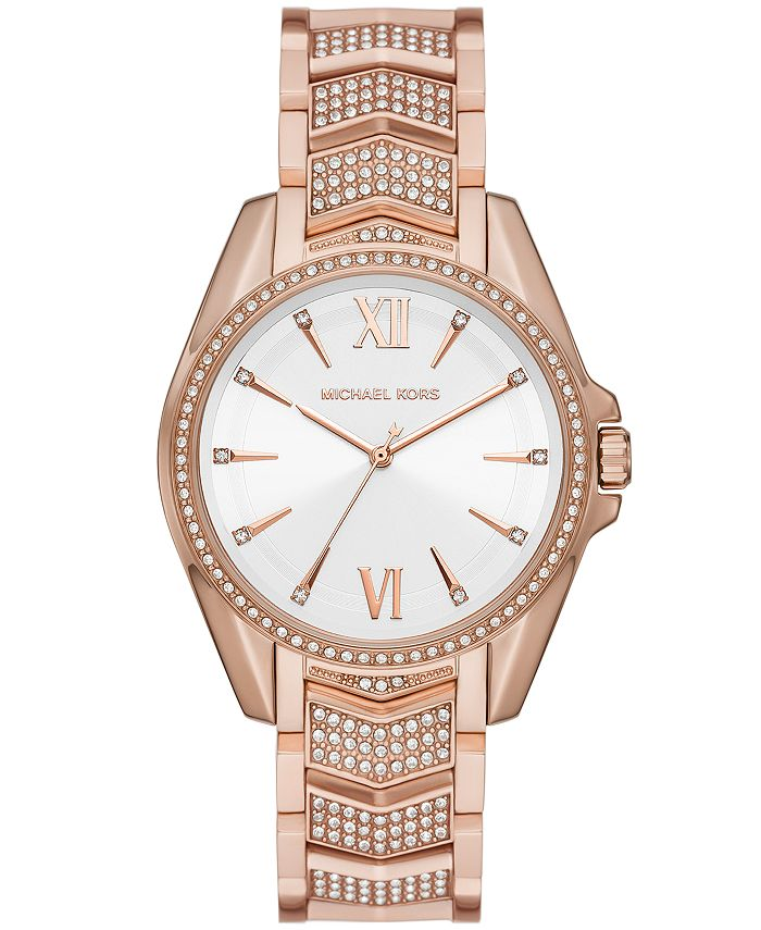 Michael Kors - Whitney Three-Hand Rose Gold-Tone Stainless Steel Watch