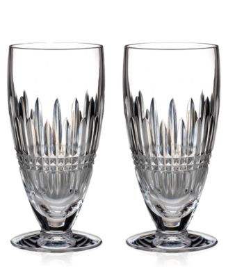 Waterford Stemware, Set of 2 Lismore Diamond Iced Beverage Glasses