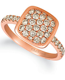 Le Vian® Nude Diamond Cluster Ring (3/4 ct. t.w.) in 14k Rose Gold