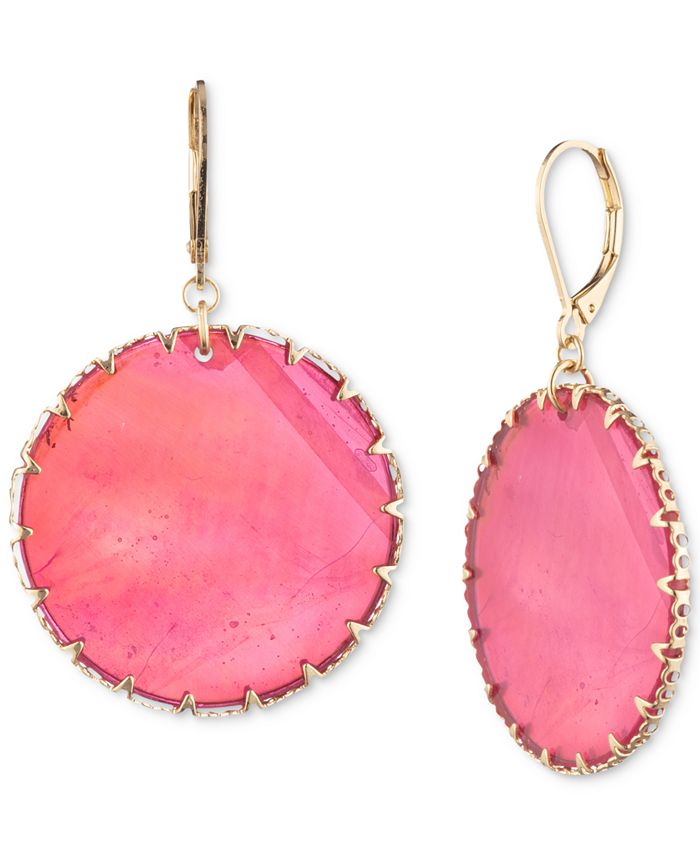 lonna & lilly - Gold-Tone & Colored Disc Drop Earrings