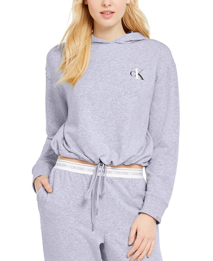 Calvin Klein - Cropped French Terry Sleep Hoodie