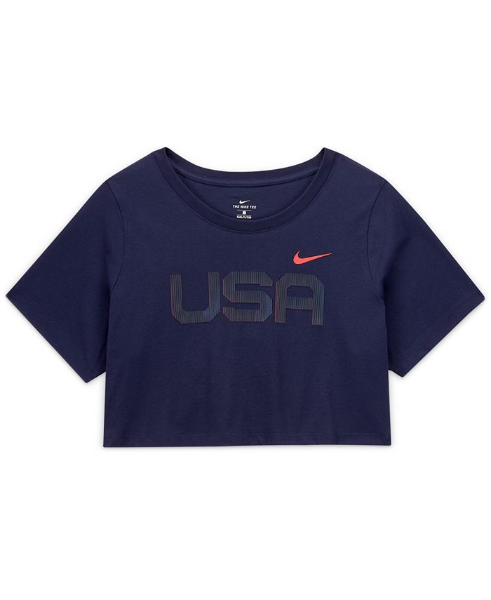 Nike - Plus Size Cotton Cropped USA T-Shirt