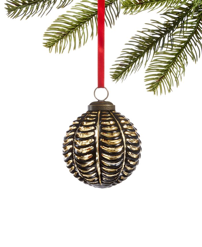Holiday Lane - Black Tie Copper-Tone Ornament