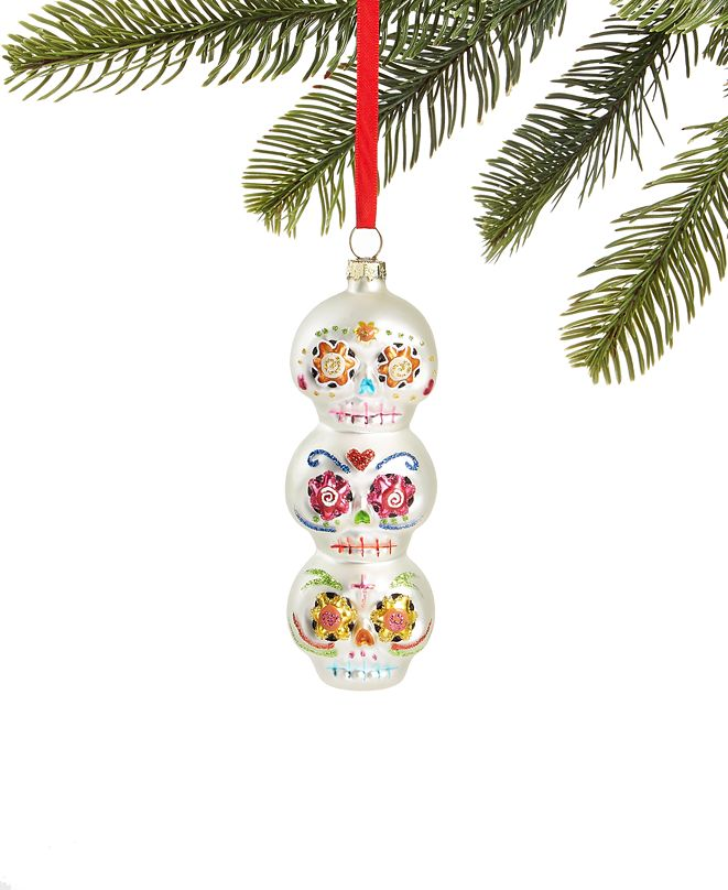 Holiday Lane Day of the Dead Stack of Skulls Ornament, Created for Macy's