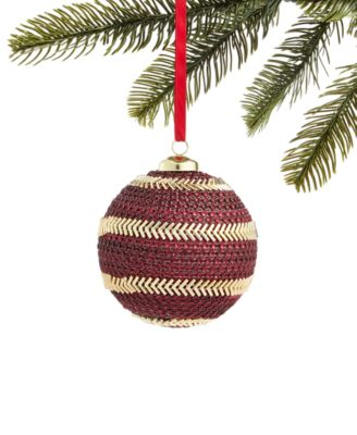 Evergreen Dreams Beaded and Jeweled Ornament in Burgundy and Gold, Created for Macy's