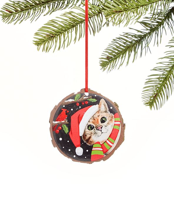 """Holiday Lane Pets """"Meow-y Christmas"""" Cat Ornament, Created For Macy's"""