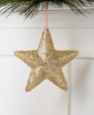 Shimmer & Light Gold Star Christmas Tree Ornament, Created for Macy's