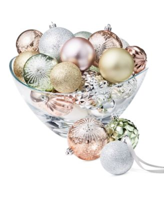 Shimmer & Light Gold, Green, Pink, Silver and White Shatterproof Ornaments, Set of 27, Created for Macy's