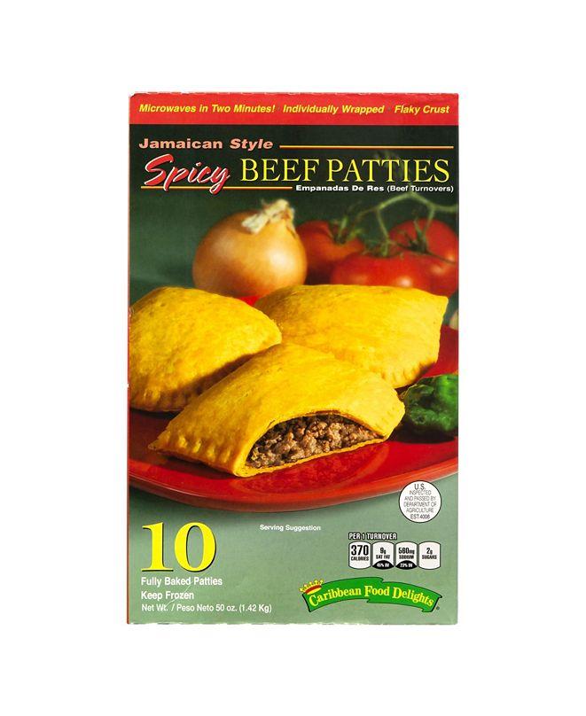Caribbean Food Delights Jamacian Style Spicy Beef Empanadas, 10 Count