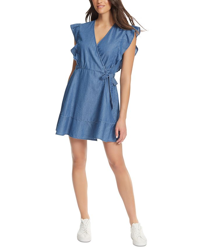 Ella Moss V Neck Wrap Dress Reviews Dresses Juniors Macy S