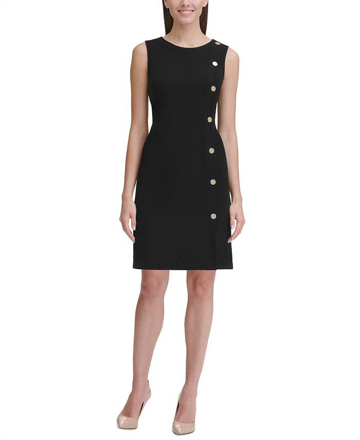 Tommy Hilfiger - Button-Detail Sheath Dress