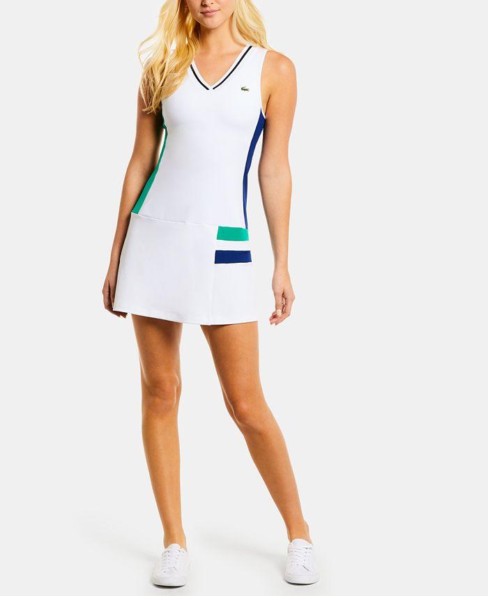 Lacoste - Colorblocked Sleeveless Tennis Dress