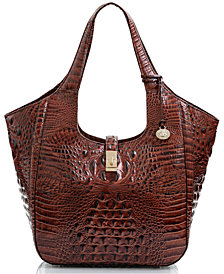 Brahmin Carla Melbourne Embossed Leather Tote