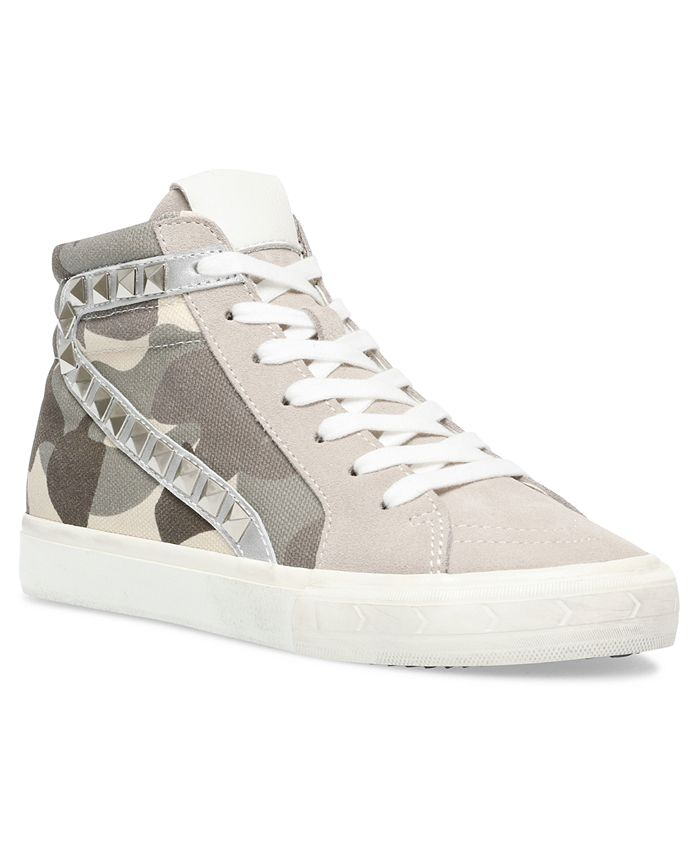 Steve Madden - Women's Tracey Studded High-Top Sneakers