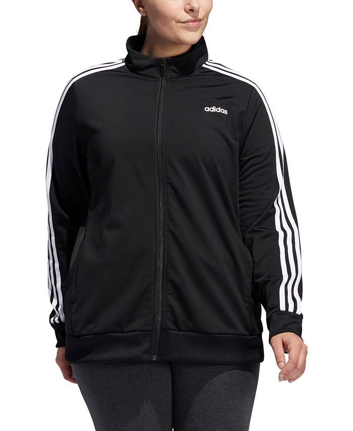 adidas - Plus Size Full-Zip Tricot Jacket