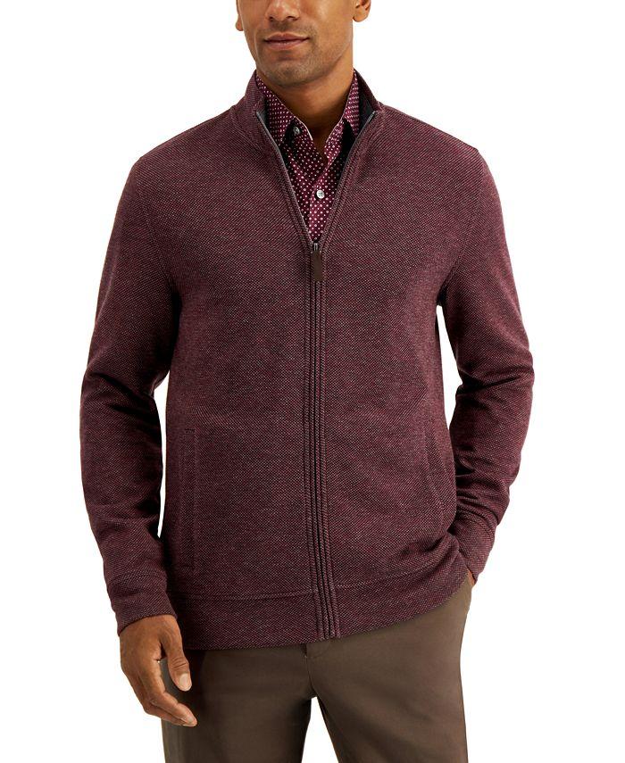 Tasso Elba - Men's Birdseye Full-Zip Sweater