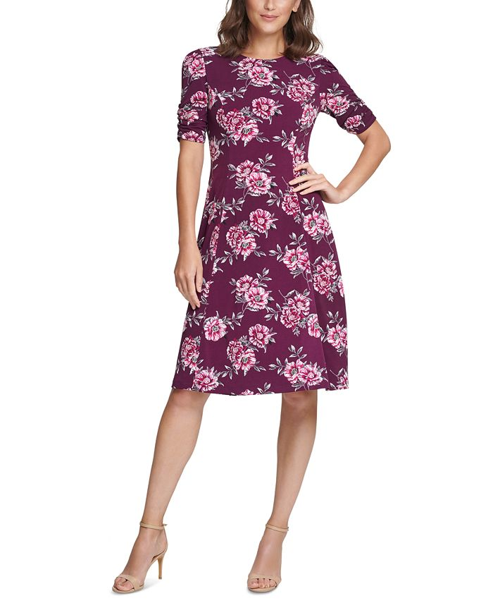 Jessica Howard - Floral-Print Jersey Dress