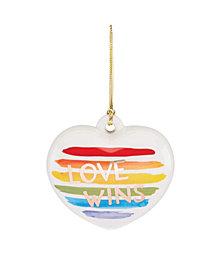 Lenox Love Wins Pride Ornament