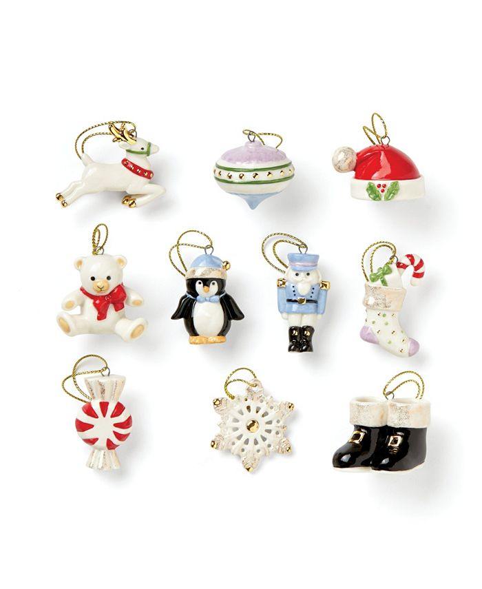 Lenox - Christmas Memories 10-Piece Ornament Set