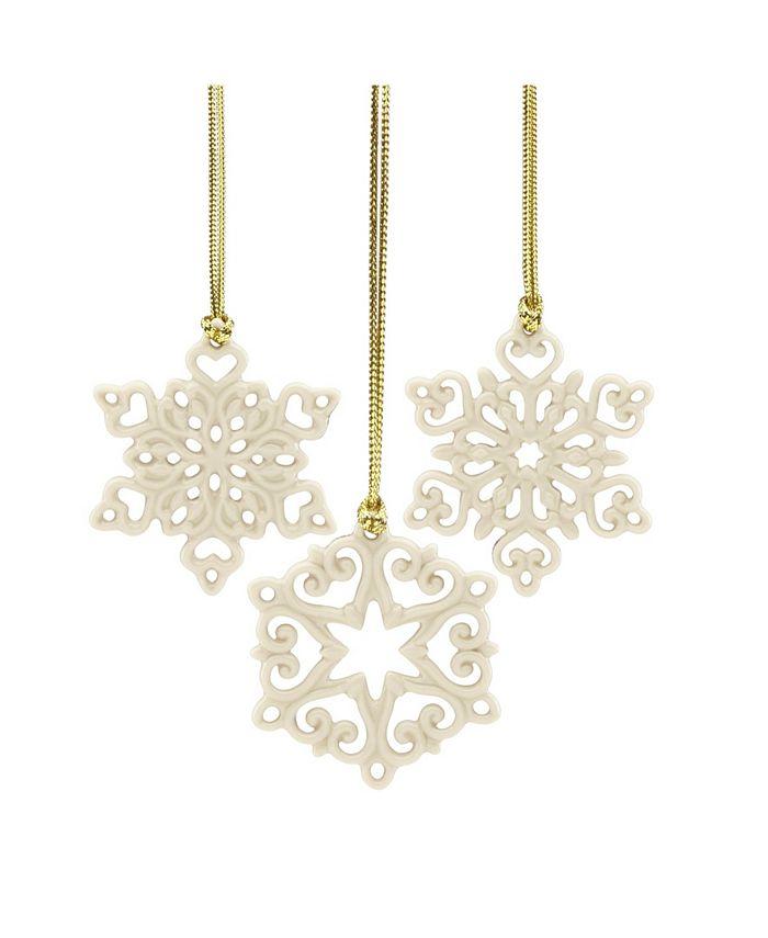Lenox - Mini Snowflake 3-piece Ornament Set