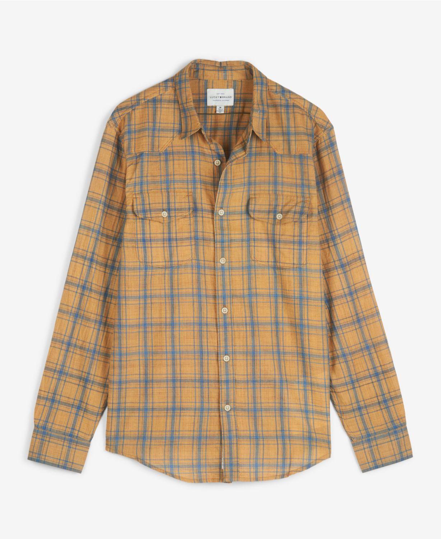 Lucky Brand Men's Poplin Humboldt Workwear Long Sleeve Shirt & Reviews - Casual Button-Down Shirts - Men - Macy's