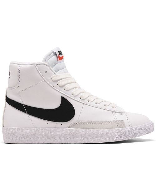 Nike Big Kids Blazer High Top Casual Sneakers from Finish ...