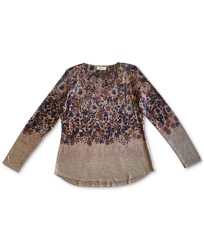 Style Co Mixed Print Top Created For Macy S Reviews Tops Women Macy S