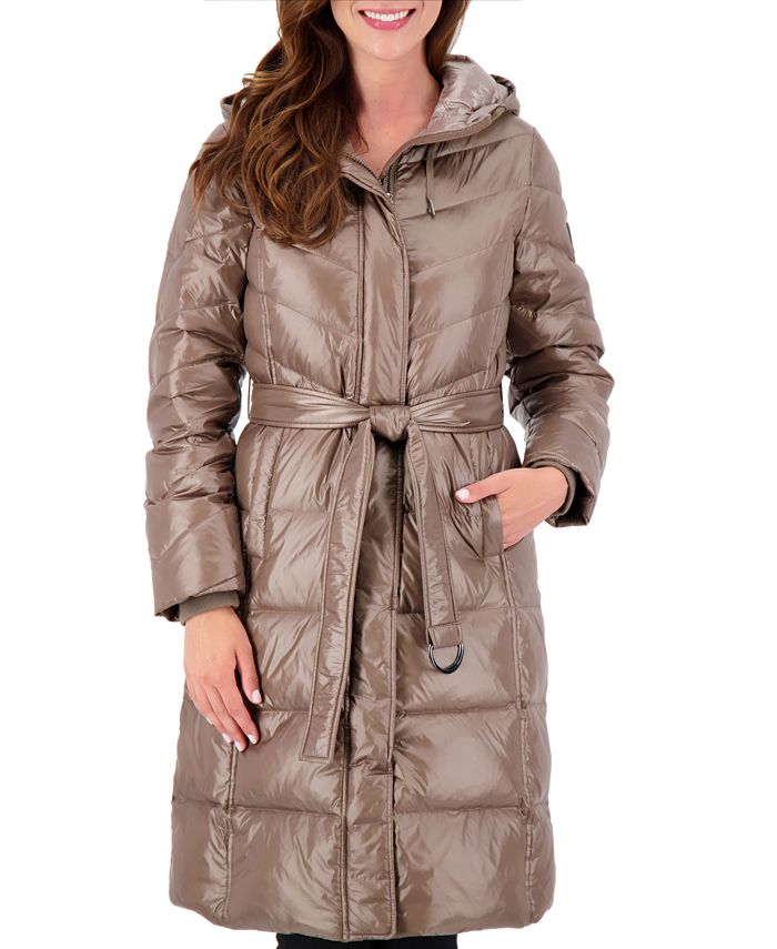 Vince Camuto - High-Shine Belted Puffer Coat