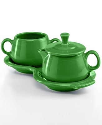 Fiesta Shamrock Sugar and Creamer Set
