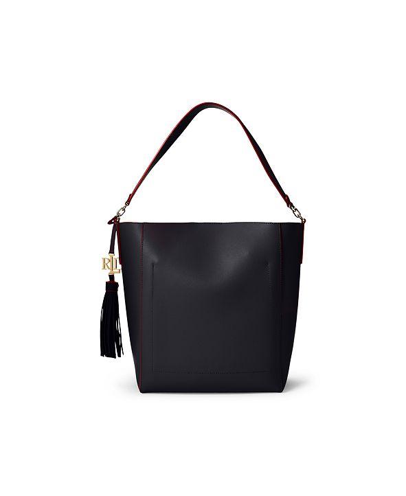 Lauren Ralph Lauren Medium Leather Adley Shoulder Bag