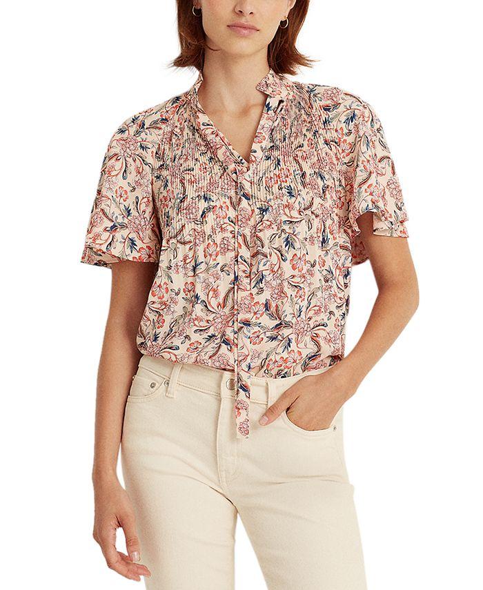 Lauren Ralph Lauren - Flutter-Sleeve Floral Top