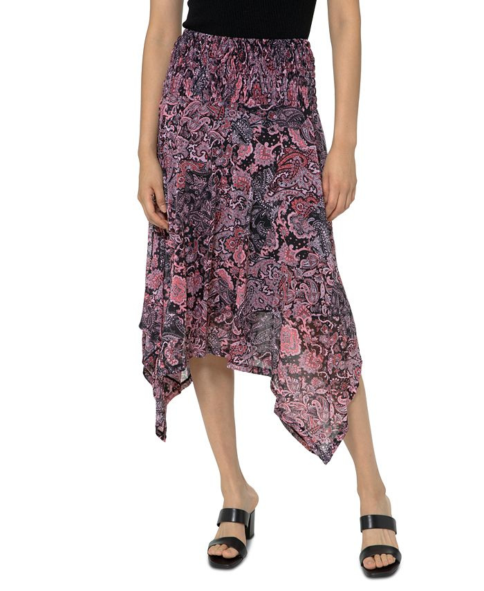 Michael Kors - Printed Handkerchief-Hem Skirt