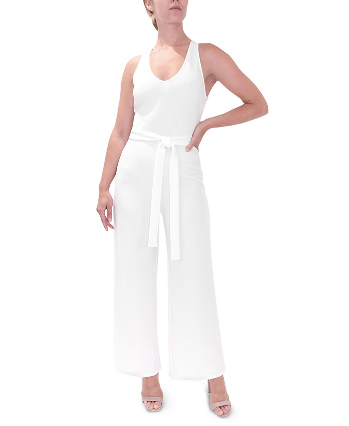 Almost Famous - Juniors' Cross-Back Jumpsuit