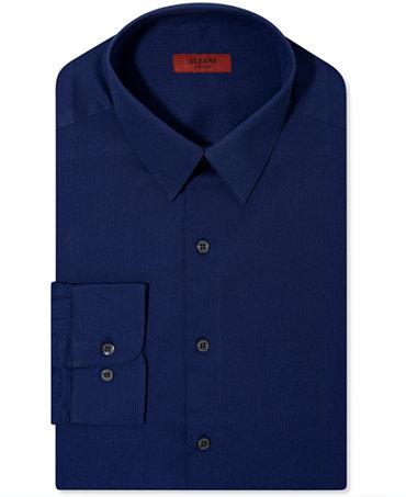 Alfani red fitted texture dress shirt dress shirts men for Alfani mens shirt size chart