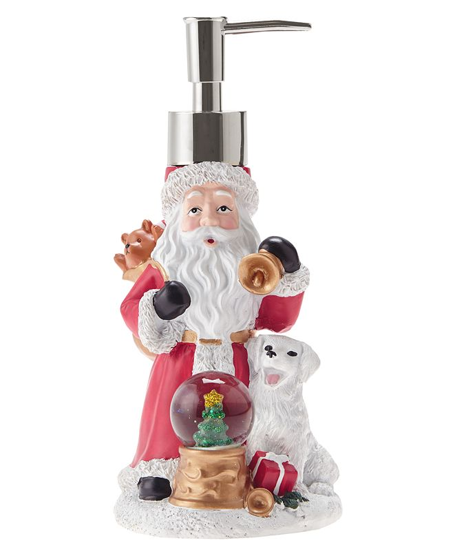 JLA Home Santa with Snow Globe Holiday Lotion Pump