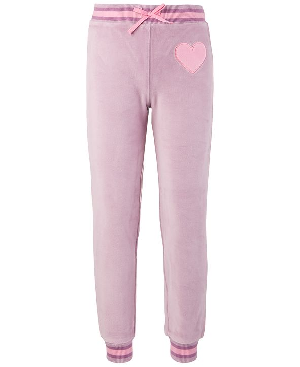 Ideology Little Girls Velour Sweatpants, Created for Macy's