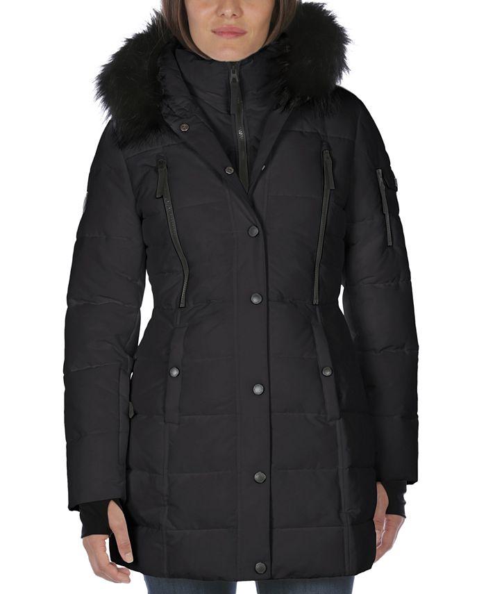 Nautica - Faux-Fur-Trim Hooded Puffer Coat